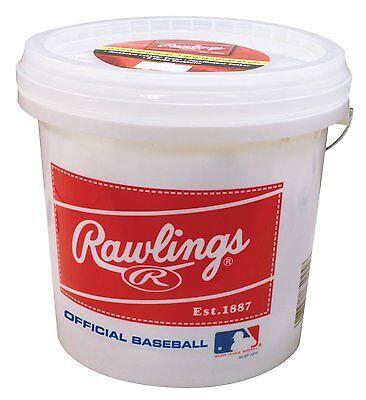 Rawlings Bucket with 2 Dozen ROLB3 Baseballs, New, Free Shipping