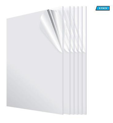 Acrylic Plexiglass Clear Sheet Replacement Glass 18 X 24 X 48 Pack Of 6