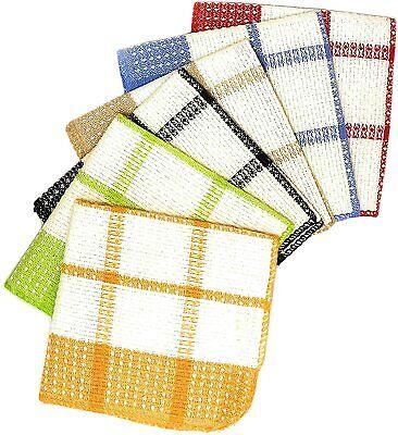 Dish Cloth 12 Pcs 13x13 100% Cotton Kitchen Dish Towel Swedish Dishcloth