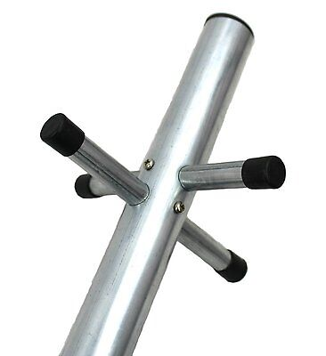 Quality Washing Line Pole Clothes Post Dryer Galvanised Heavy Duty 2.4m & Socket