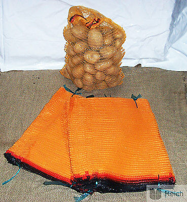 20 x Potato Raschel Sacks Sacks 12,5kg Capacity 41 X 63 cm with Tie Rod