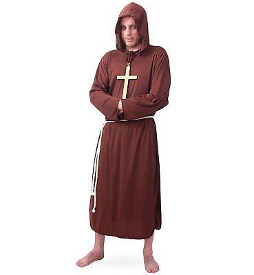 Mönch Kostüm Gr. L XXL Mönchskutte Mönchskostüm Geistlicher Fasching (Geist Kostüm)