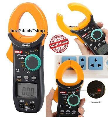 Digital Clamp Meter Tester Acdc Volt Amp Multimeter Auto Ranging Current 600a