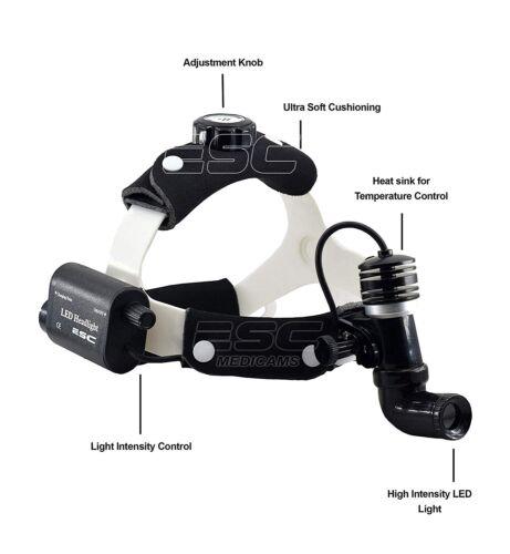 ENT Dental Surgical Headlight Medical Headlamp LED 10 Watt Wireless Rechargeable