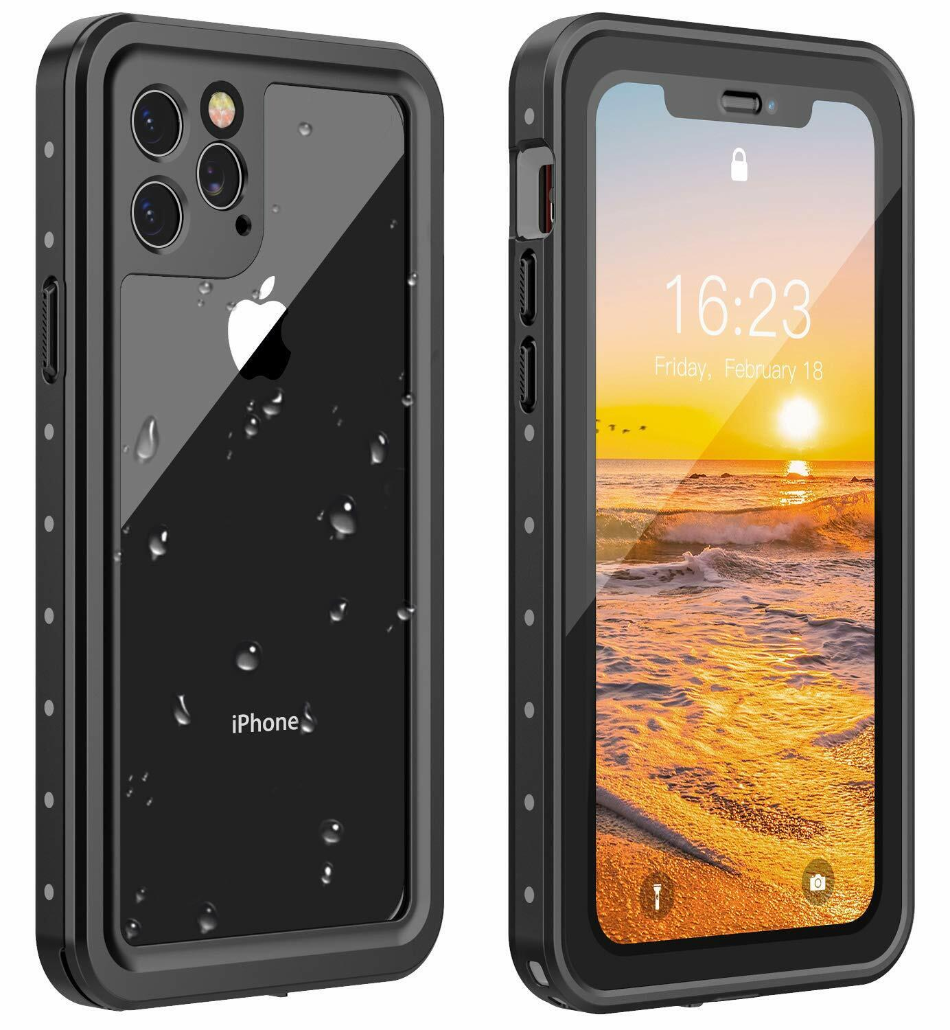 For iPhone 11 Pro Max Case Waterproof Shockproof Screen Prot