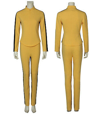 KILL BILL Cosplay The Bride Halloween Costume Girl Yellow Outfit Motorcycle Suit