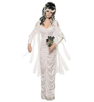 Haunted Bride Ghost Dead White Woman Fancy Dress Up Halloween Adult Costume