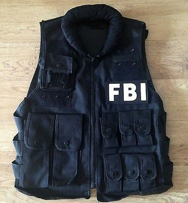 New Airsoft FBI Tactical Vest With Patch Black - Fbi Vest