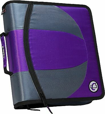 Case It The Dual 2 In 1 Dual Ring Binder 3 Capacity D-rings Dual-101 Purple