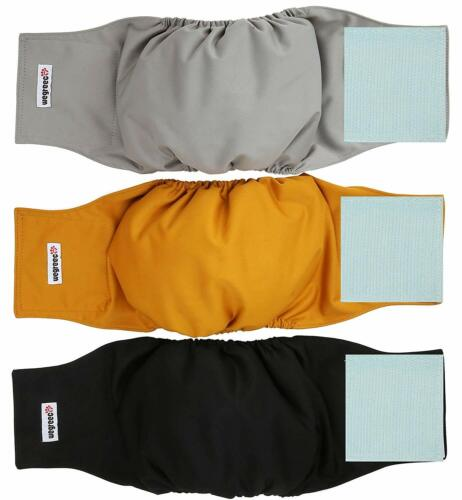 Washable Male Dog Belly Wrap Diapers (Pack of 3) - Small