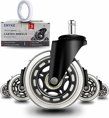 5 Pack Heavy Duty Office Chair Caster Wheels 3 Replacement Chair Caster -anyke