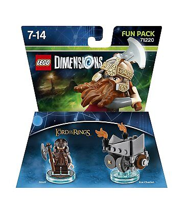 LEGO DIMENSIONS LORD OF THE RINGS 71220 GIMLI + AXE CHARIOT FUN PACK SHIPS FREE!