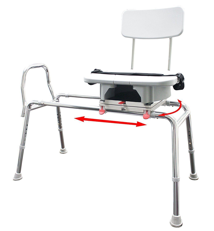 Snap-n-save 77663 Sliding Shower Chair Bath Transfer Benc...