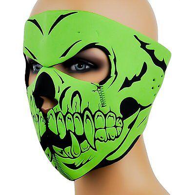 Green Demon Vampire Skull Demon Face Mask For Motorcycle Bikers,Parties-New! - Vampire Skull Mask