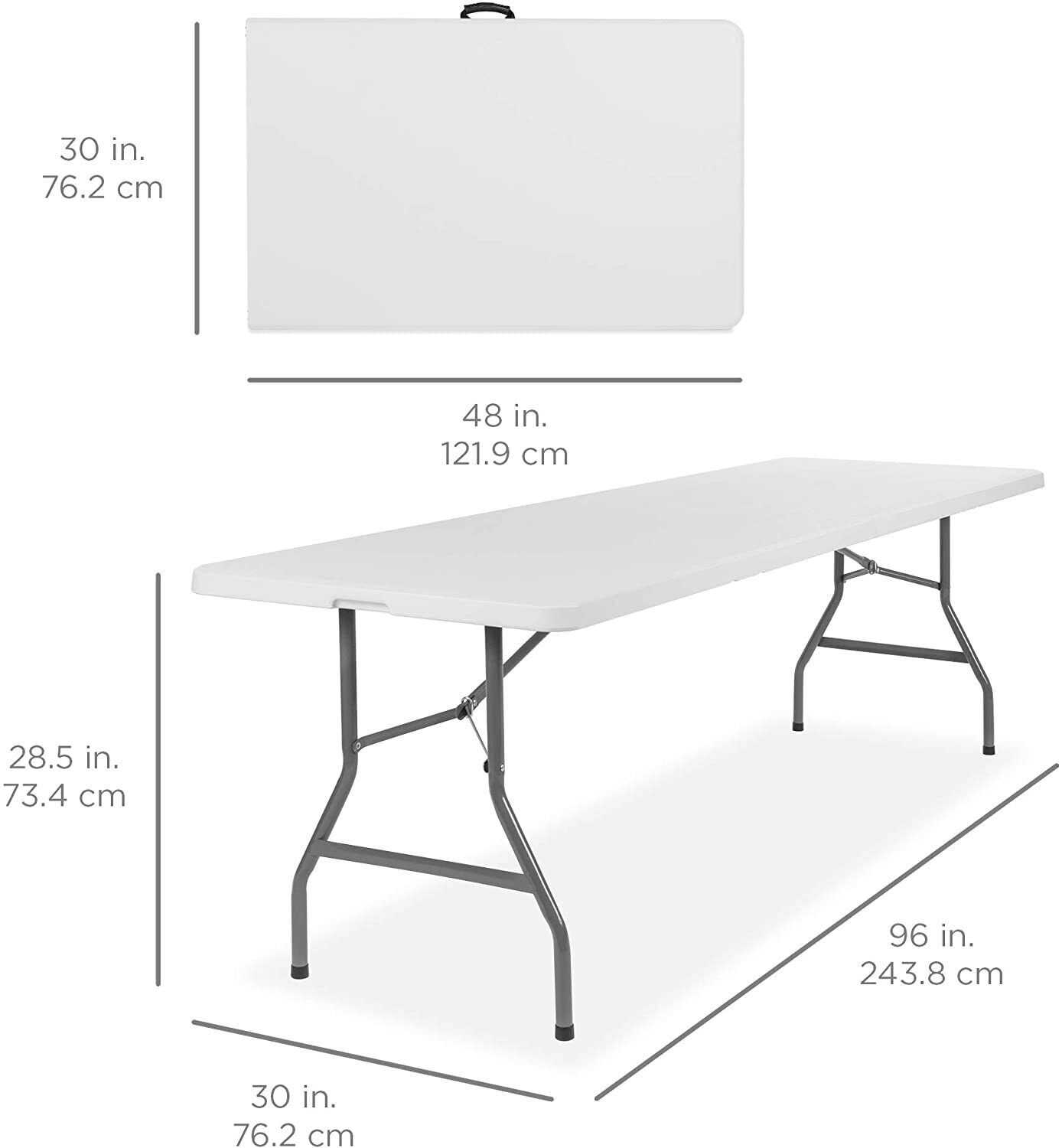 Best Choice Products 8ft Portable Folding Plastic Dining Tab
