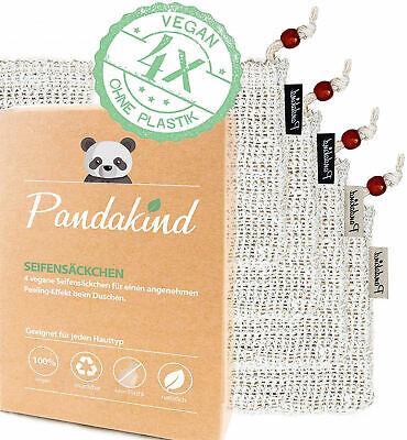 EINFÜHRUNGSANGEBOT - Pandakind 4x - Sisal Seifen-Säckchen-Bekannt aus dem Stern