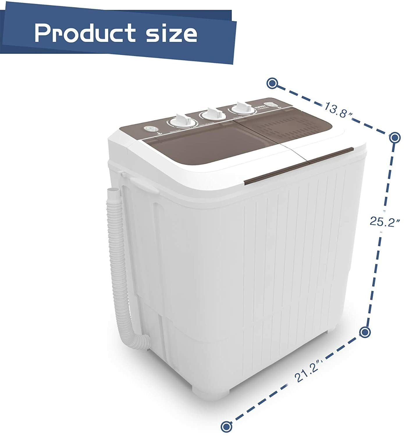 17 lbs Portable Compact Twin Tub  Washing Machine Wash and S