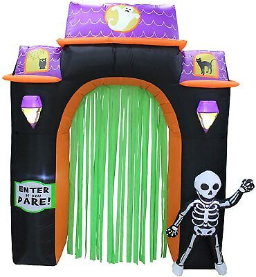 8 Ft Haunted House Archway Inflatable Halloween Decoration