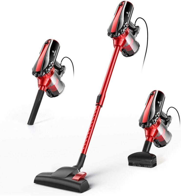 MOOSOO Stick Vacuum Cleaner Corded 17KPa Telescopic Tube 2 in 1 0.8L HEPA D600