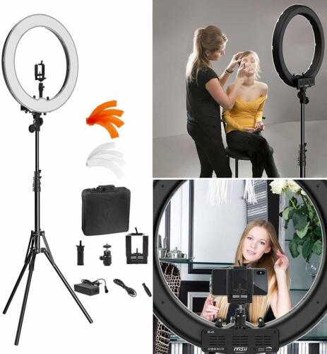 Bestgift Camera 18-Inch Ring Light Kit 55W  LED with Tripod Stand Self-Portrait