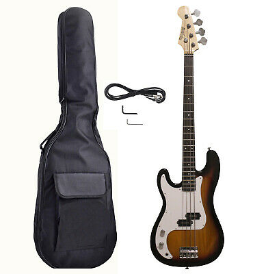 Left handed Bass Guitar Kit for beginners with Gig bag, Patch cord iMEB808LF