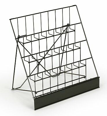 Four 4 Tier Wire Rack Display Magazine Stand With 2-12d Pockets Cd Set Of 2
