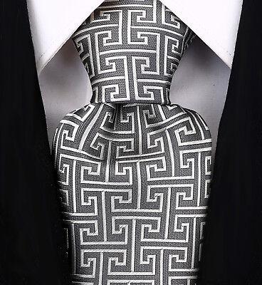 Mens Geometric Tie Greek Key Necktie By - Scott Allan Collection