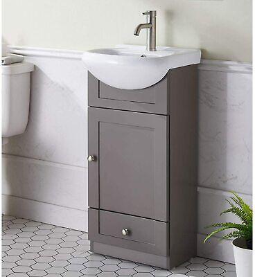 Modern Grey Khaki Stand Bathroom Vanity Bathroom Sink Vanity Combo Cabinet Set