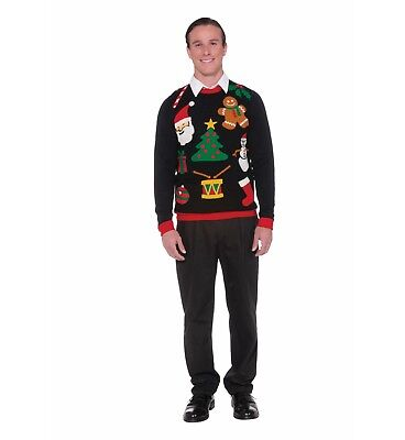 Forum Novelties Everything Christmas Icons Adult Ugly Christmas - Adult Ugly Christmas Sweater