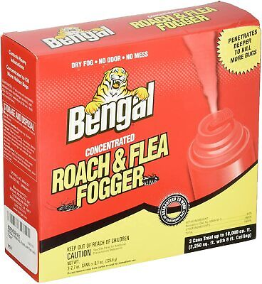 Bengal Roach and Flea Indoor Fogger, 3-2.7 oz. Cans