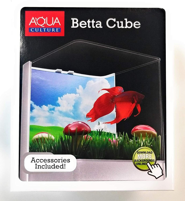 Beta Cube Fish Aqua Culture Beta Cube Starter Fish Aquarium With Accessories  - $18.79