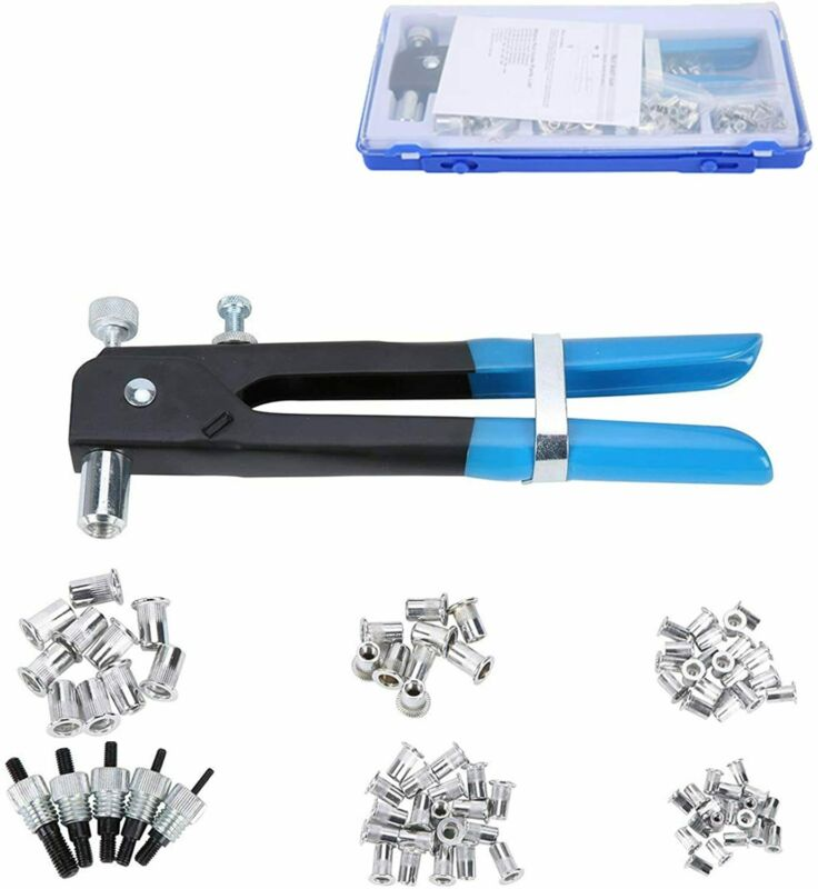 M3-M8 Threaded Nut Rivet Insert Tool 86pcs Riveter Rivnut Nutsert Riveting Set