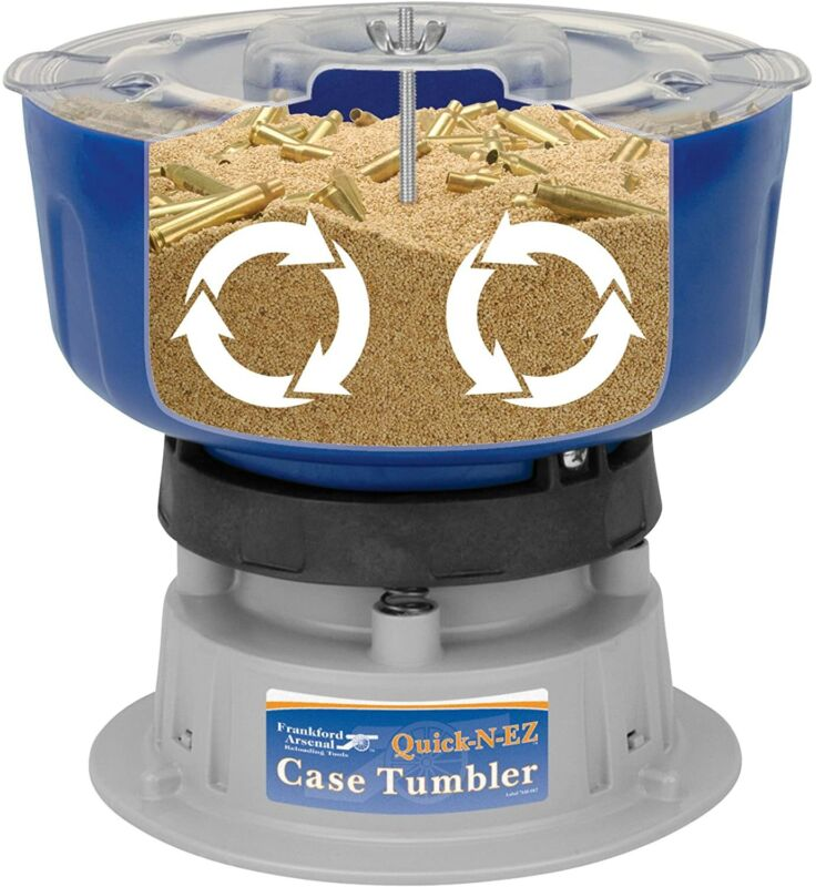 Frankford Arsenal Quick-n-Ez Case Tumbler Brass Cleaner Tool Cartridge Reloading