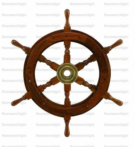 "18"" Antique Wooden Ship"