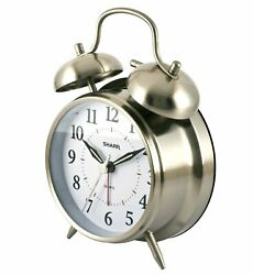Sharp Quartz Analog Twin Bell Alarm Clock