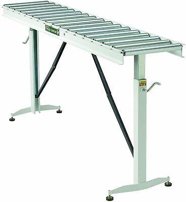 Htc Adjustable Folding Roller Conveyor Table 15inwx66inl 17 Ball Bearing Rollers