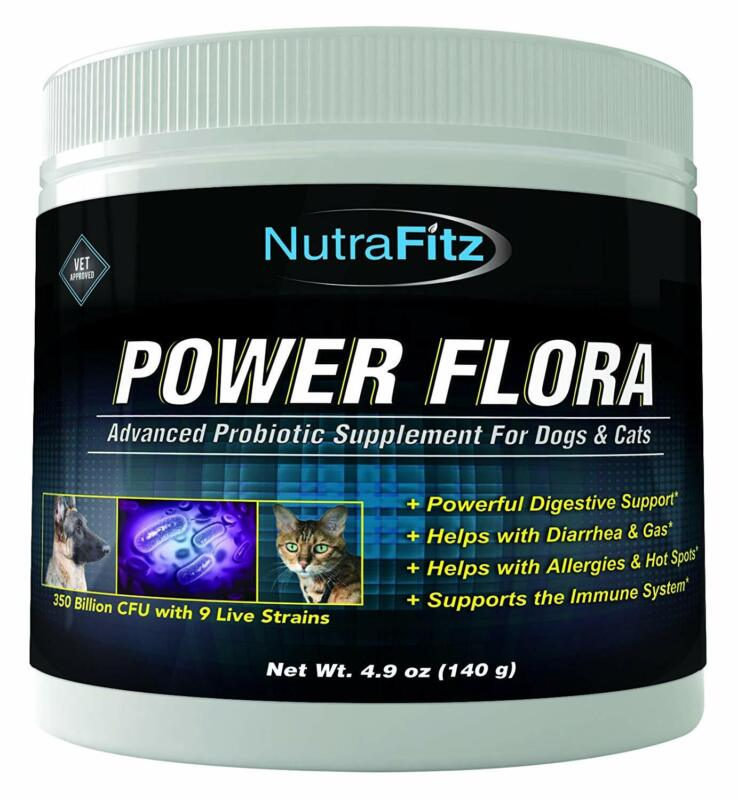 Power Flora - Probiotics For Dogs And Cats With 9 Live Strai