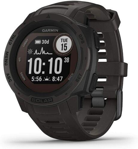 Garmin Instinct Solar Graphite Watch GPS Track Sports Smartwatch