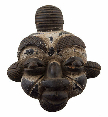 Mask Diminutive African Passport Miniature Divination Terracotta 6472 Q1