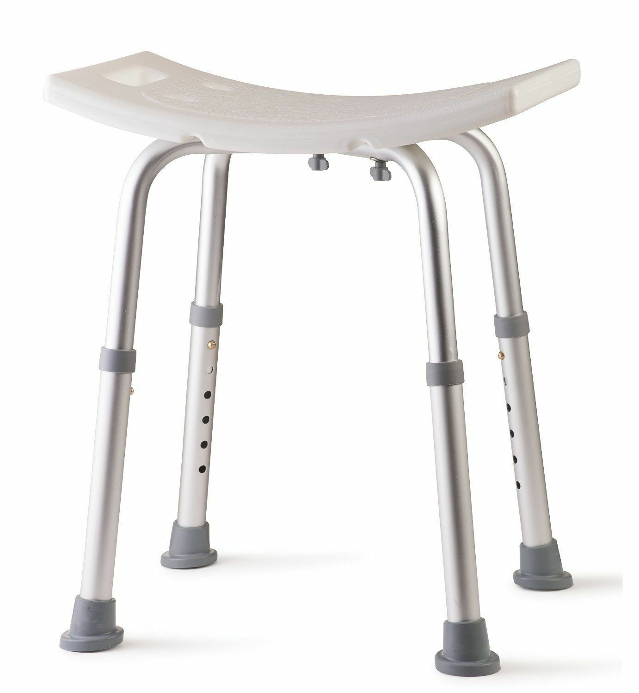 Aluminum Bath Tub Shower Chair with Handles, Drainage Holes