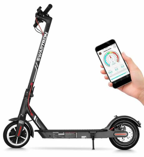 Swagtron Swagger 5 High Speed Electric Scooter Portable & Folding Cruise Control