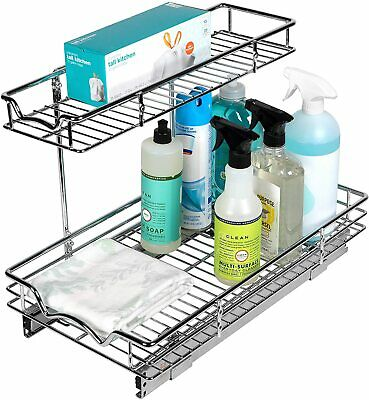 SlideOut Cabinet Organizer – Perfect for Vanity and Kitchen Under Sink Cabinet