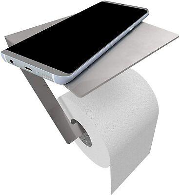 PHOS Design Toilettenpapierhalter mit Smartphone-Ablage, Edelstahl, hochwertig