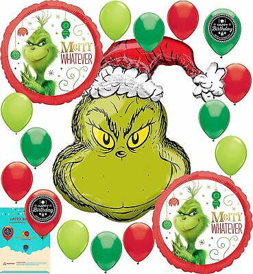 The Grinch Christmas Party Supplies Birthday Balloon - Christmas Party Supplies