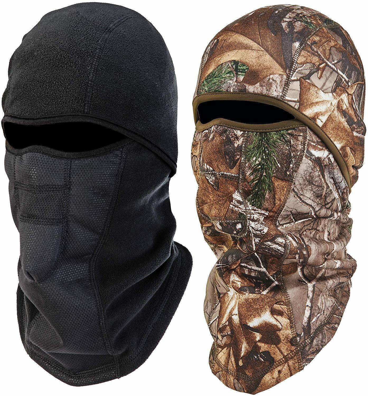 Ergodyne NFerno 6823 Winter Ski Mask Balaclava,Thermal Fleece 2 Pack Black &Camo Clothing