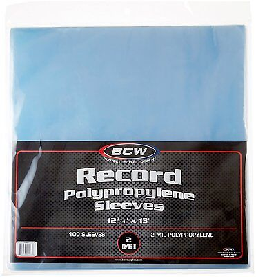 New 100 PLASTIC OUTER SLEEVES VINYL RECORD LP ALBUM COVERS Free Shipping