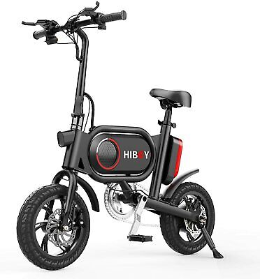 Hiboy P10 Folding Electric Bike for Adults Power Assist, 36V Lithium Ion Battery