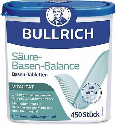 Bullrich Säure-Basen-Balance Basentabletten, Inkl. 12 pH-Teststreifen (450...
