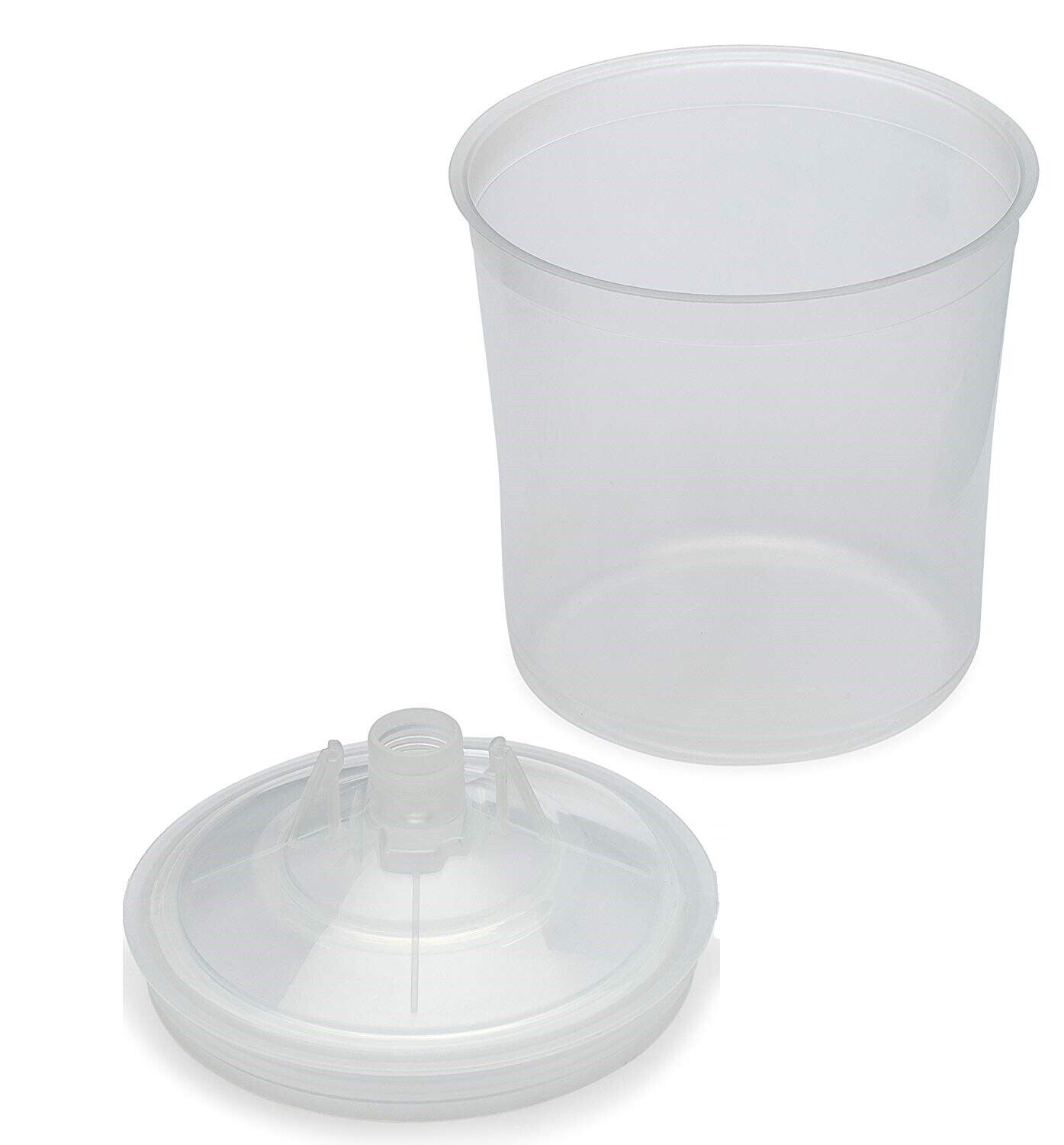 Disposable Paint Cup Set 50 Lids & 50 Liners W/ Hard Cup - Compare 3M 16000 PPS