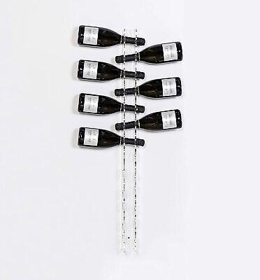 iPLEX - Bibenda Cantinetta da Parete Porta Bottiglie Vino Plexiglass Trasparente